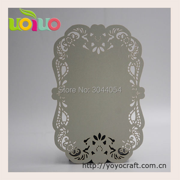 Simple Menu Card Laser Cut Thank You Table Name Free Printing Service Wedding Event Party Favor Invitations