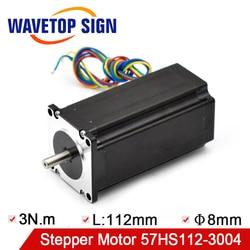 Nema 23 Stepper Motor 57HS112-3004 Holding Torque 3N.m Current 3A CNC Laser Grind Foam Plasma Cut
