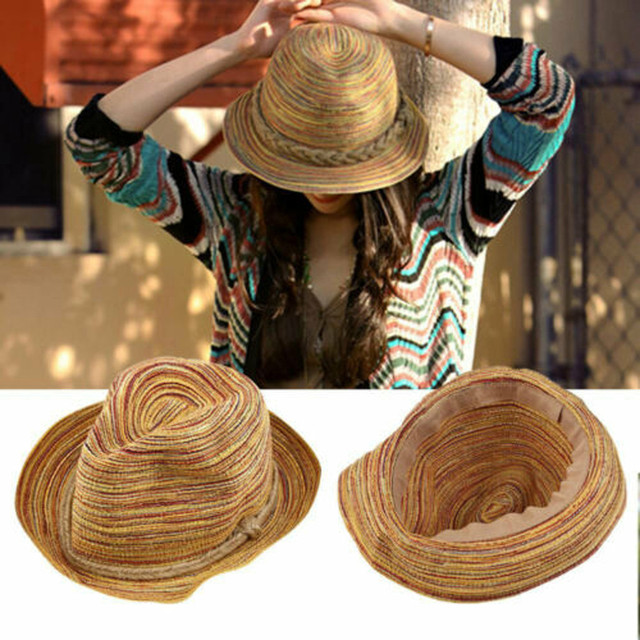 Womens Summer Straw Boho Hat
