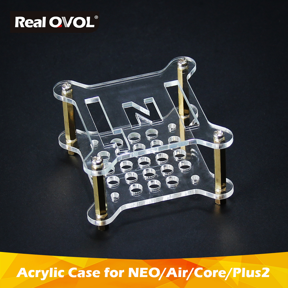 FriendlyELEC Acrylic Clear Case,With Pillars Screws Nuts,fit With NanoPi NEO/NEO2/NEO Air/NEO Core/NEO Core2/NEO Plus2