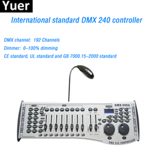 Dj Equipment DMX 240 Controller Control Moving Head Led Par Disco Light Stage Lighting DMX 192 Channels For Disco DJ Party Bar free shipping quick show 3 dmx controller or dmx control software controller equipment for disco nightclub stage light