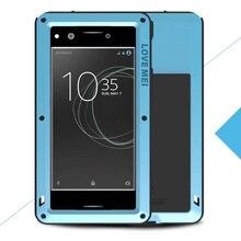 Мощный для Sony Xperia XZ Премиум ЛЮБОВЬ МЭИ Экстрим Мощный жизнь Водонепроницаемый Dropproof металлический чехол для Sony XZ премиум с коробка
