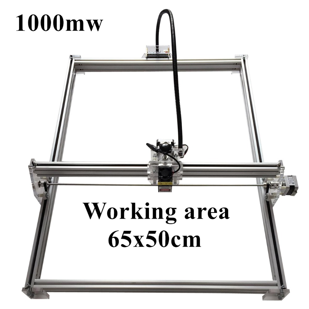1000mW Mini desktop DIY Laser engraving engraver cutting machine Laser Etcher CNC print image of 50 X 65 cm Laser Engraver