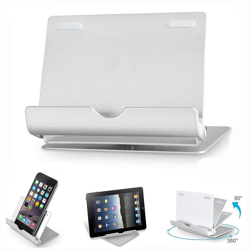 """Tablet halter 4-12 """"faltbare aluminium 360 grad drehbaren tablet stehen für ipad stehen multi-angle tragbare handyhalter ständer"""