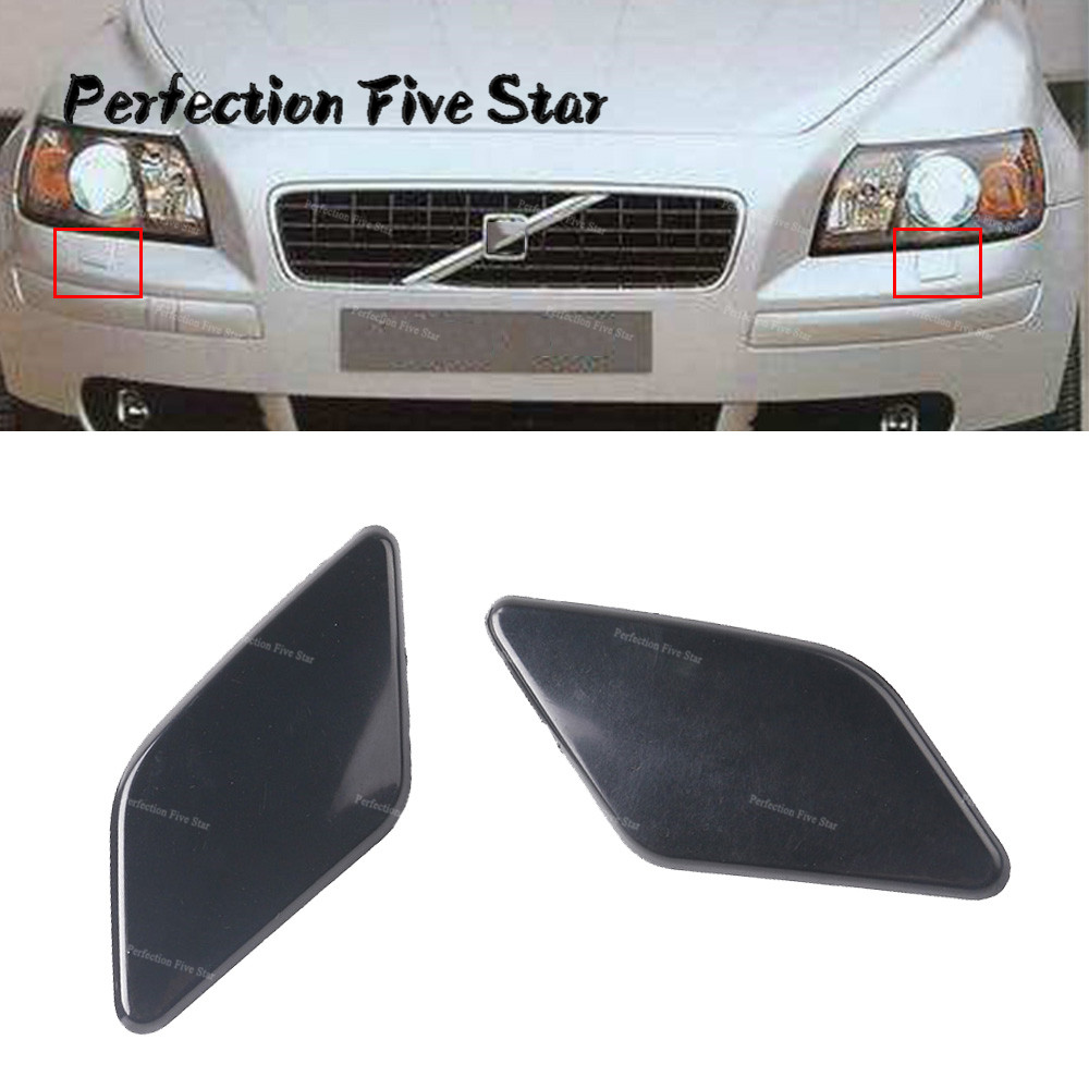 CITALL Front bumper headlight washer spray cap Fit For Volvo S60 2011-2013