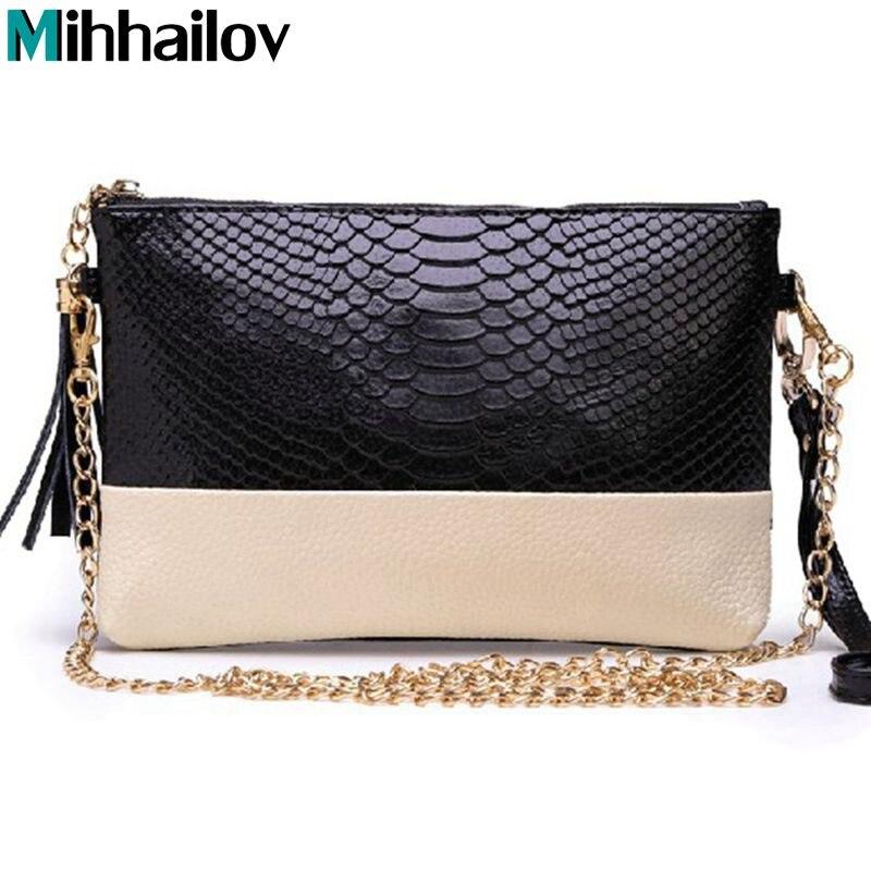 Crocodile Genuine leather Tassel Handbags Shoulder Bags Messenger Bag Day Clutch Chain Bag Small Bag Women's Clutches A40-332