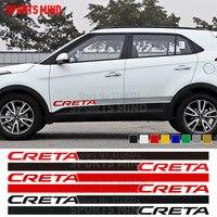1 Pair Sports Mind Door Side Stripe Car Sticker Decal Automobiles Car Styling JDM For Hyundai Creta IX25 Exterior Accessories