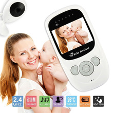 Wireless LCD Audio Video Baby Monitor 2.4 inch Color Security Camera Night Vision Temperature Monitoring Video Talkie Babysitter 3 5 mini wireless baby camera tft lcd video baby monitor night vision digital video babysitter support 32gb sd card