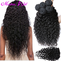 7a brazilian water wave with closure 4 bundles deals brazilian virgin hair water wave wet and wavy natural wave with closure