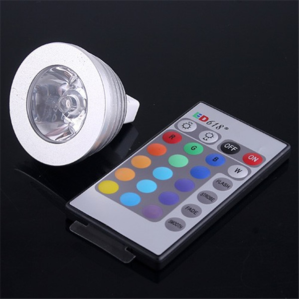 5PACK MR16 3W 1X3W LED Dimmable/24Keys Remote-Controlled/Decorative RGB Spotlights lamps 16 Color Change bulb 12V