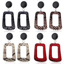 купить 1 Pair Retro Exaggerated Women Earrings Snakeskin Pattern Geometric Shape Earring Ear Stud Jewelry Gifts по цене 39.08 рублей