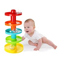Baby Toys Tower Ball Bell Stroller Ramp Ball Drop Roll Toys Kids Development Educational Toy For