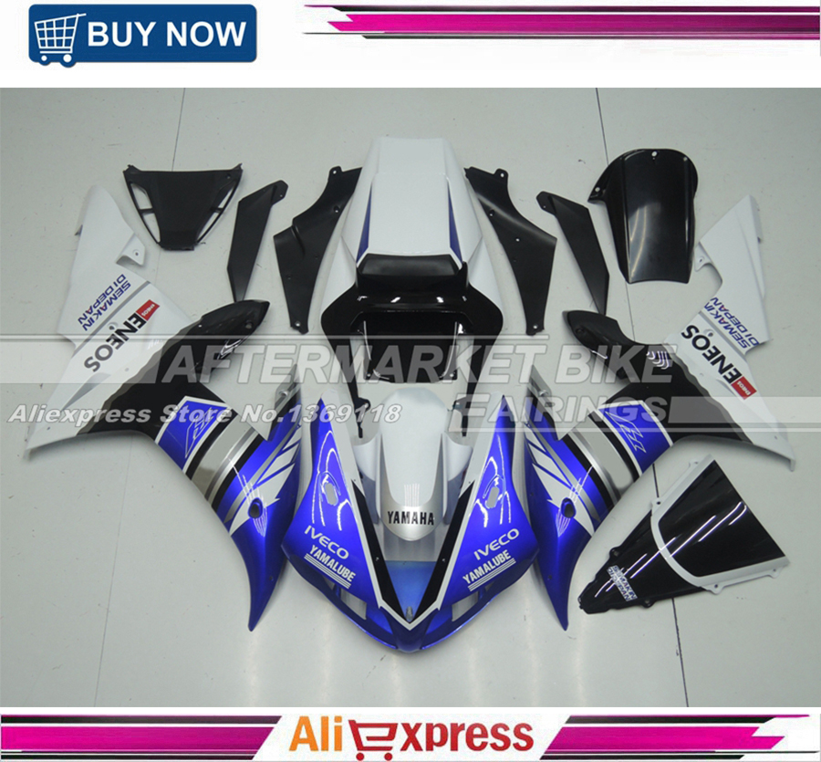 100% Good Quality Durable ABS Plastic Motorcycle Cover For Yamaha YZF R1 2002 2003 Injection Fairing Bodywork With Windshield запчасти для мотоциклов yamaha 100 100 5wb5wy100