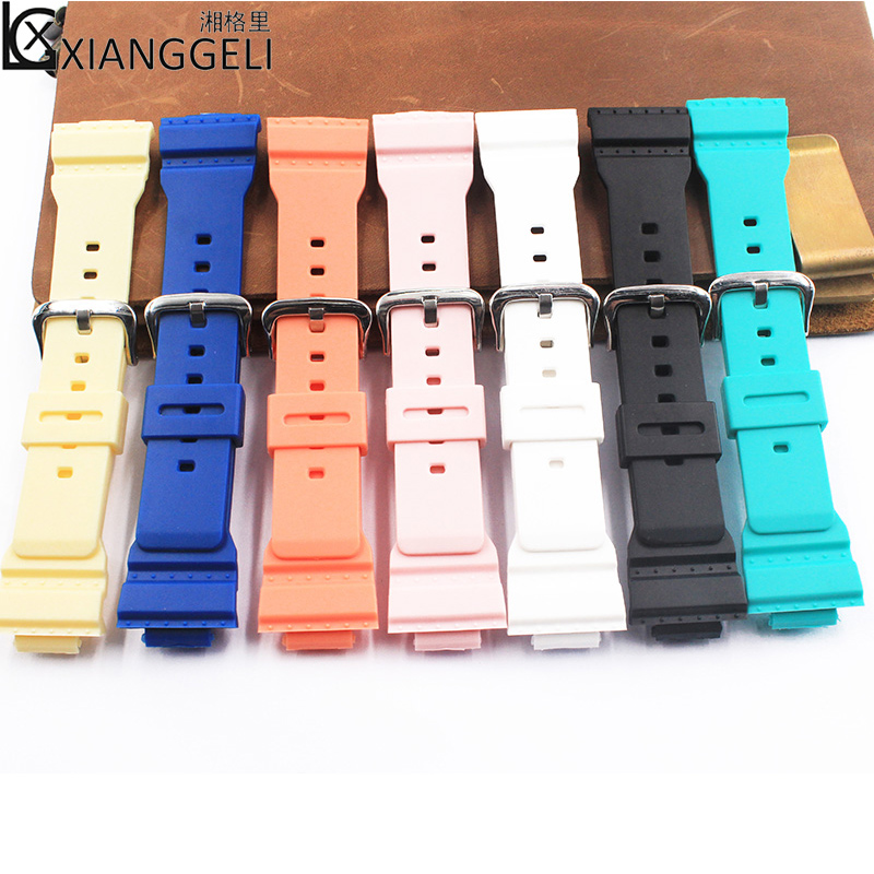 Watch accessories Pin buckle resin strap 14mm for Casio baby-g BA-111 BA-110 BA-112 BA-120 125 childrens womens watch bandWatch accessories Pin buckle resin strap 14mm for Casio baby-g BA-111 BA-110 BA-112 BA-120 125 childrens womens watch band