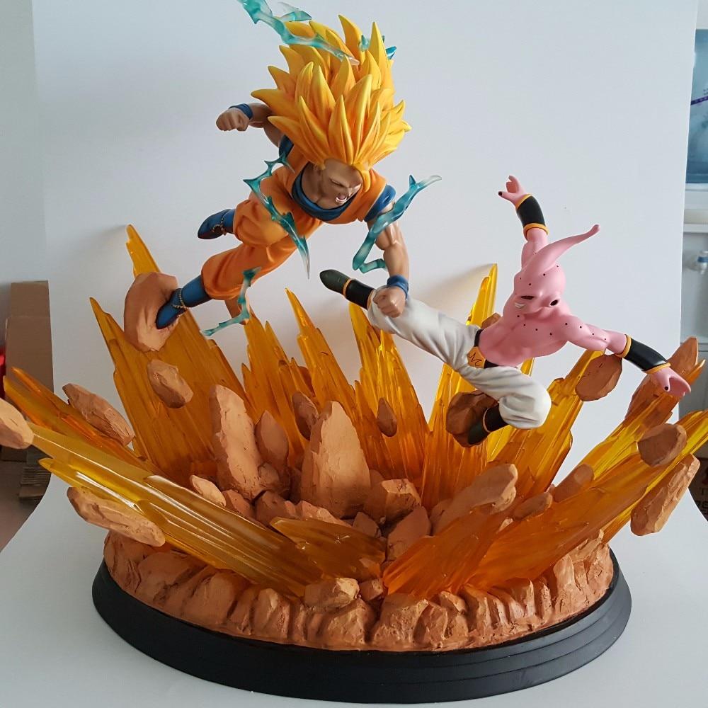 buy dragon ball z figures goku vs buu resin 430mm figurine dragon ball z resine