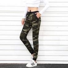 382e981d7c4aa Nueva llegada mujeres Harem del pantalón del camuflaje suelta pantalones  largos con bolsillo americano Original