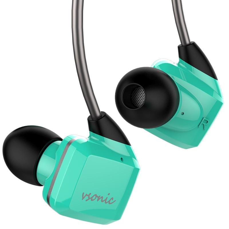 VSONIC 2018 nuevo GR07 bajo/GR07i clásico con micrófono dinámico desmontable MMCX en aislamiento de ruido de oído auriculares de deporte HIFI-in Auriculares y cascos from Productos electrónicos    1