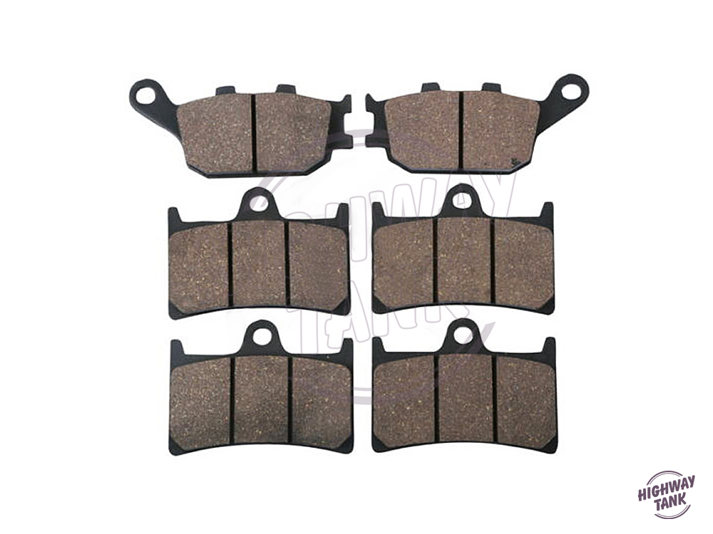 6 PCS Semi-Metallic Motorcycle Front Rear Brake Pads Brake Disks case for YAMAHA FZ6 600 S2 FAZER S2 ABS 2007 free shipping