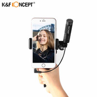 K & F CONCETTO Mini Microfono di Registrazione Microfono A Condensatore per iPhone Android Smardphones Telefono Dispositivo Mobile Con Il Cellulare Treppiede