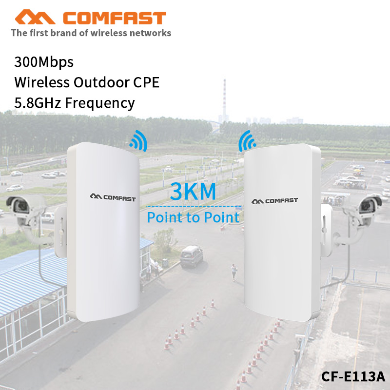 2pcs 3km Long Range High Power Outdoor CPE Wifi Repeater 5.8GHz 300Mbps Wireless Wifi Router AP Antenna Bridge Nano Station AP