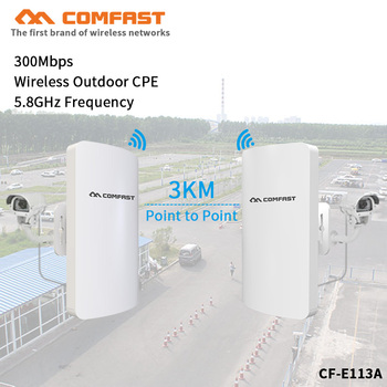 2pcs 3km long range High Power Outdoor CPE Wifi Repeater 5.8GHz 300Mbps Wireless Wifi Router AP antenna Bridge Nano station AP