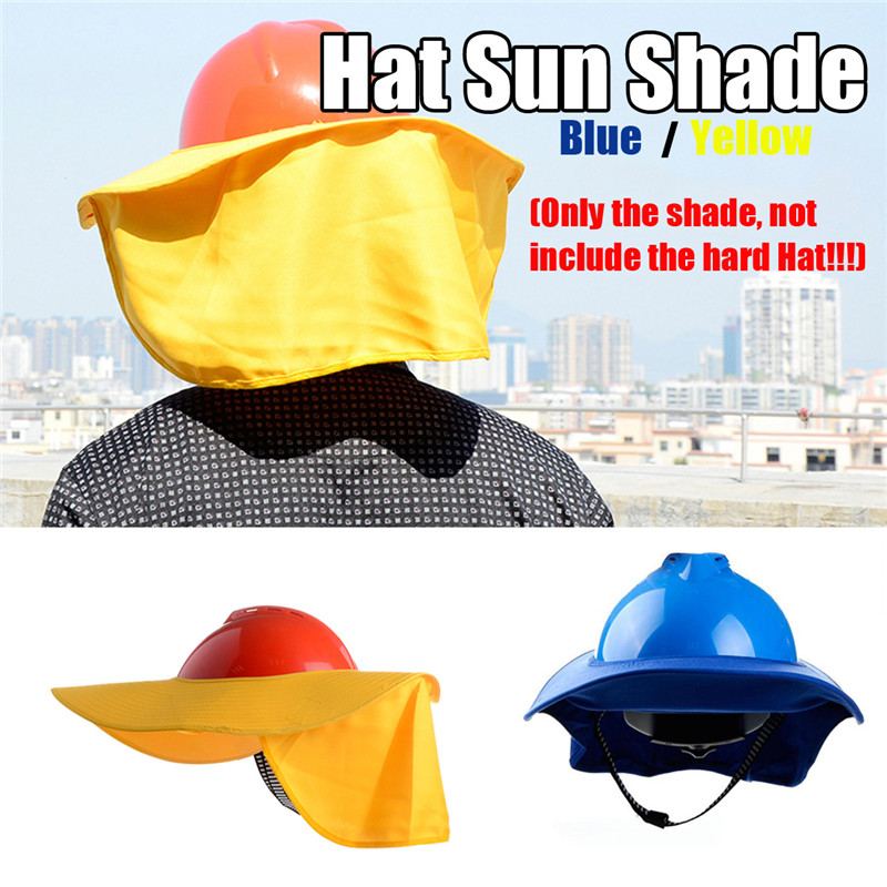 Safty Full Brim Hard Hat Neck Shield Sun Shade Eye Mask Anti-glare Protection Protective Helmets Workplace Safety