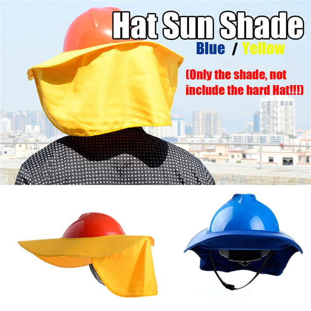 c4f483840f8 Safty Full Brim Hard Hat Neck Shield Sun Shade Eye Mask Anti-glare  Protection Protective Helmets Workplace Safety