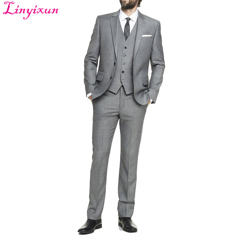 Linyixun 2016 European and American Style Tuxedo Men's Wedding Suits Prom Suits Business Suits (Jacket+Pant+Vest)