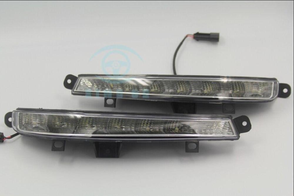 For Mercedes W221 S65 S63 2009-2012 Led daytime running light fog lamp cover DRL