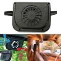 Solar Sun Power Car Auto Air Vent Cool Fan Cooler Ventilation System Radiator