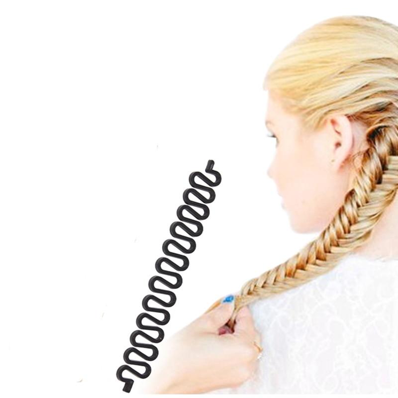 1PC DIY Rambut Braider Alat Roller Magic Hair Styling Alat Twist Girls Aksesori rambut untuk Wanita Braiding Headdress Maker