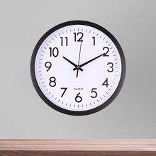 Пластик Металл настенные часы с тихим ходом развертки Современные изящные стол творческий простой цифровые часы домашний декор простой стильный практич