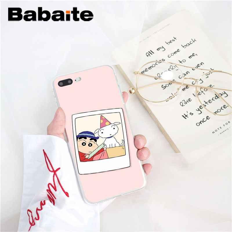 Babaite мультфильм карандаш Shin-chan рукоделие принт рисунок чехол для телефона iPhone 8 7 6 6S Plus X XS MAX 5 5S SE XR чехол