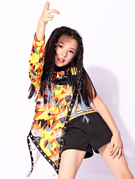 The New Childrens Performance Clothing Ethnic Girl Hip-hop Jazz Dance Suit Costumes