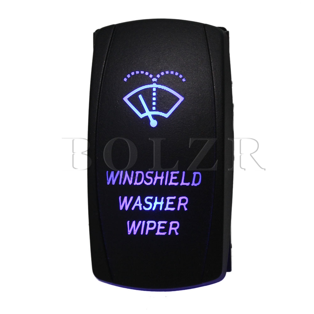BQLZR Blue Windshield Washer Wiper ON-OFF-ON Rocker Switch for Motorcycle куртка детская dc wiper 2 blue iris