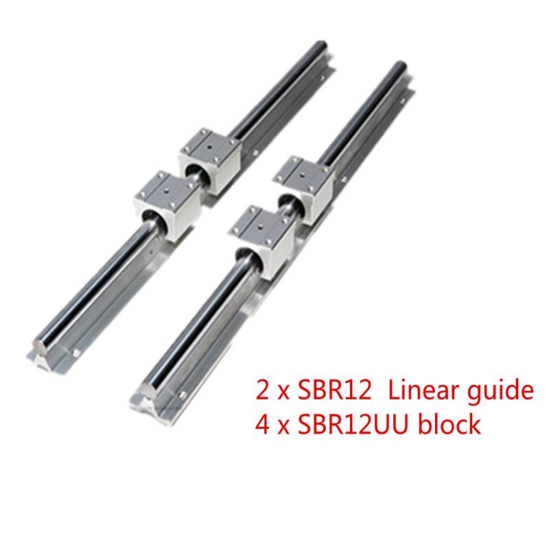 4pcs SBR10UU Block 2X SBR10-200mm 10MM FULLY SUPPORTED LINEAR RAIL SHAFT ROD