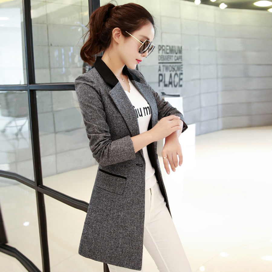 women long suit jacket coat women plus size elegant ladies suits slim fit blazer work wear. Black Bedroom Furniture Sets. Home Design Ideas