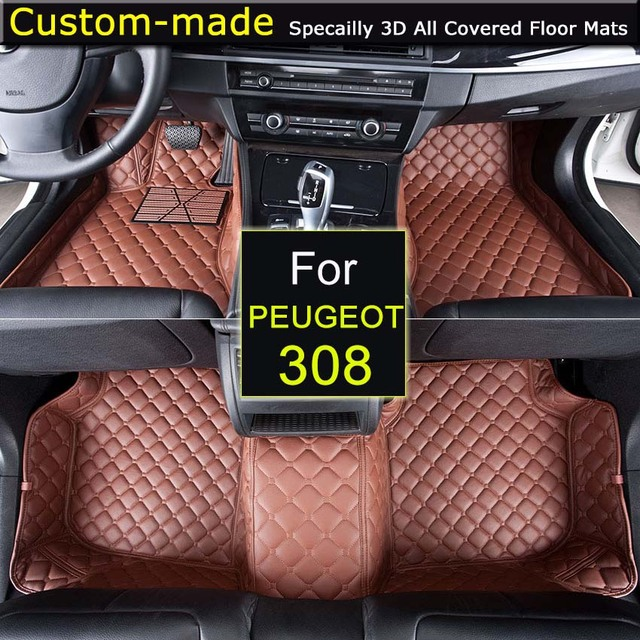 For Peugeot 308 308S 308SW 2015 Car Floor Mats Customized Foot Rugs ...
