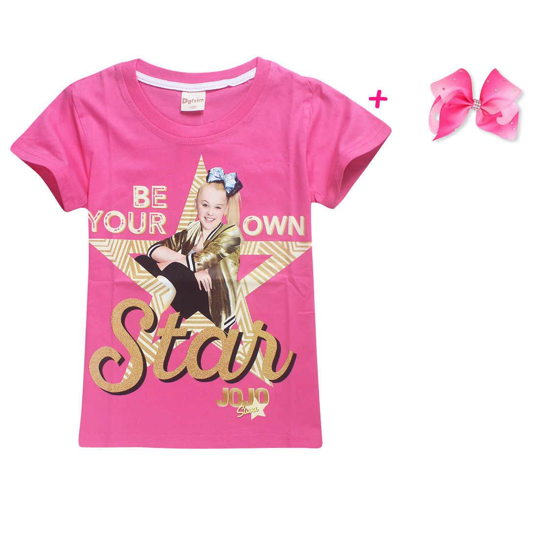 ... 100% Cotton T-Shirts for Children 2018 Summer Jojo Siwa Baby Girls Tops  Tees ... 65e1fd1a0197