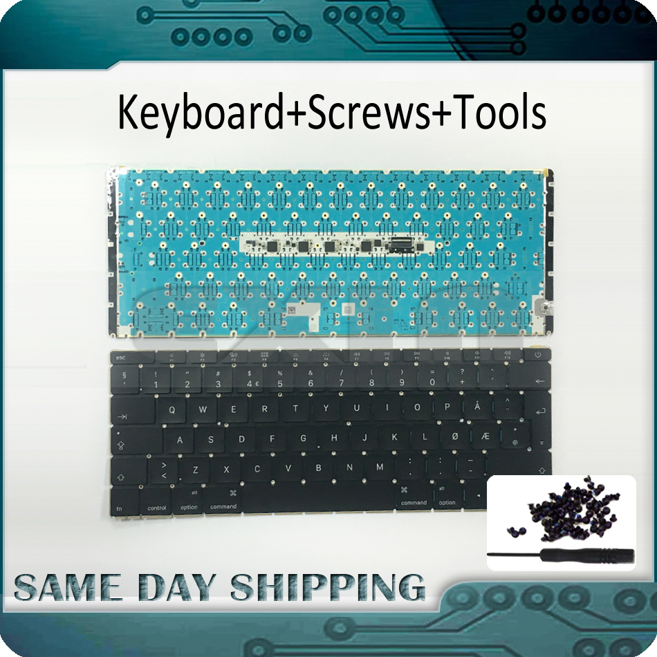 2015 NEW A1534 Norway Norwegian Keyboard w/ Backlit Backlight for MacBook Retina 12 A1534 Keyboard Norway MF855 MF865 EMC2746 genuine 12 inch a1534 grey palm rest 2016 year for macbook air retina a1534 palmrest top case topcase us keyboard with backlight