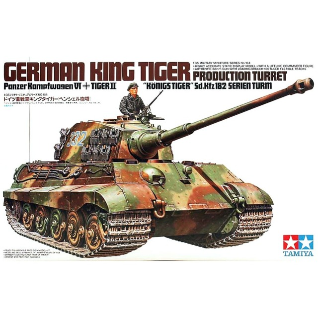 2b10e9f3c019 OHS Tamiya 35164 1 35 German King Tiger Panzerkampfwagen IV Tiger II Sd Kfz  182 Military AFV Assembly Model Building Kits