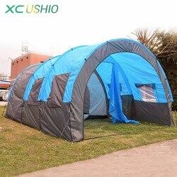 480x310x210 см большой туннельная палатка 5-8 человек огромный Семья Палатка Домик для кемпинга на открытом воздухе вечерние непромокаемые 4 сезо...