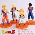 4 шт./компл. Dragon Ball Z Фигурки Songukou Gogeta Gotenks ПВХ Цифры Игрушки Коллекция GB089