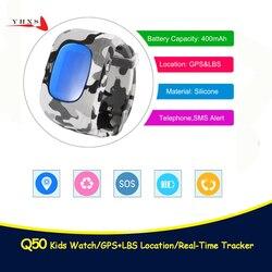 Q50 GPS Smart Kid bezpieczny zegarek lokalizator z funkcją wzywania pomocy lokalizator Tracker dla dziecka monitor chroniący przed zgubieniem zdalny zegarek dla dziecka pk T58