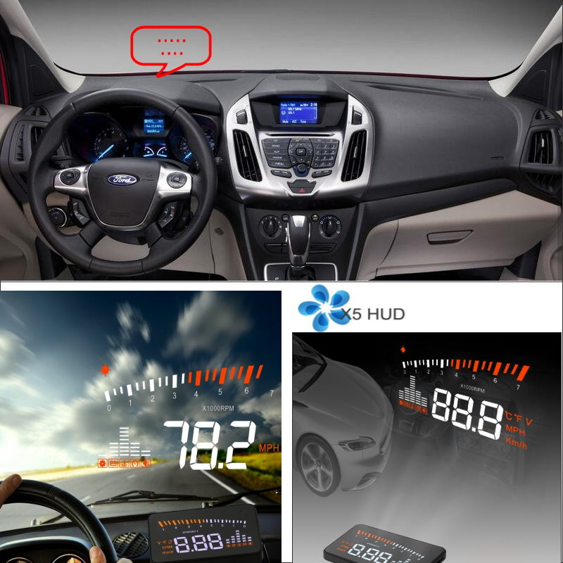 Liislee For Ford Transit MK6 MK7 2000~2013 - Safe Driving Screen Car HUD Head Up Display Projector Refkecting Windshield car electric window toggle switch front for ford transit mk6 2000 2006
