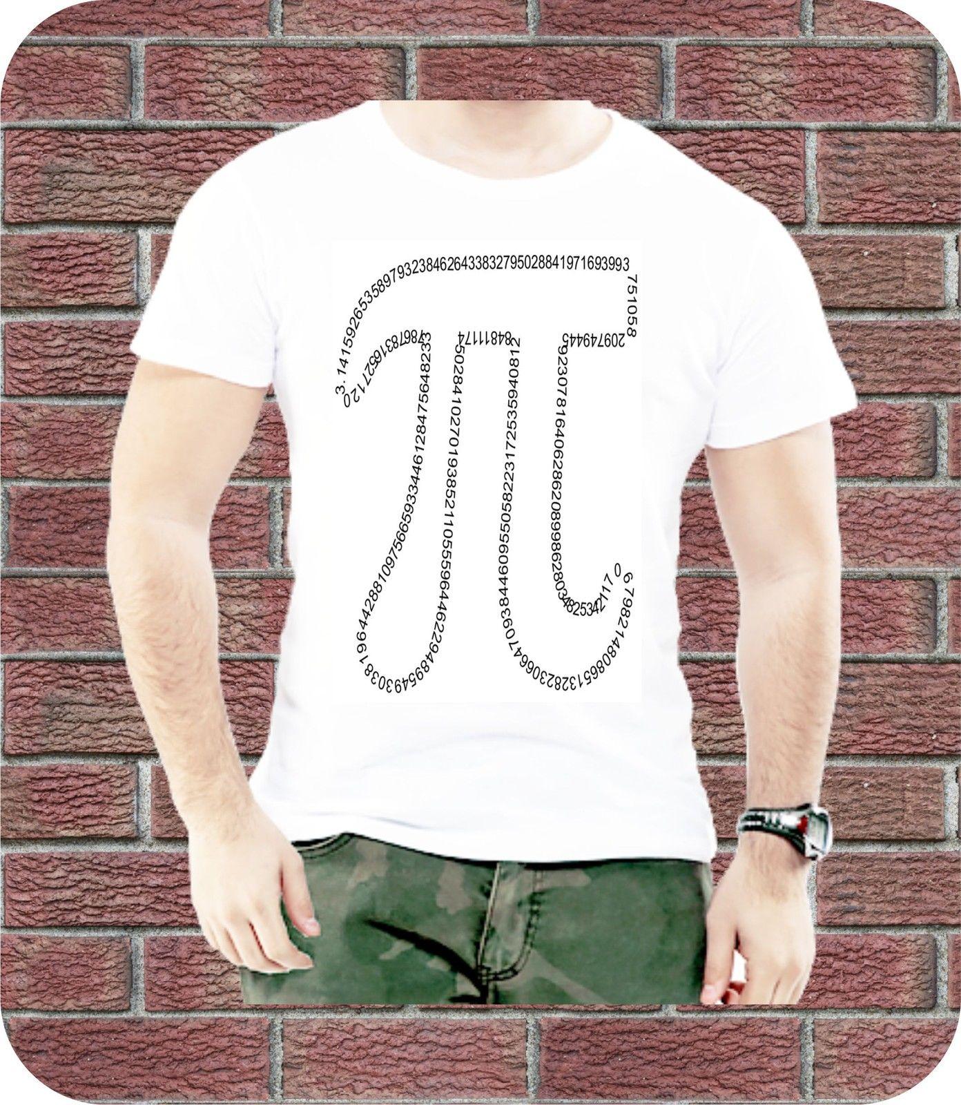 Pi Maths Number Mathematical Greek Letter Men T Shirt Casual Summer Present 3XL New Fashion Mens Short Sleeve Cotton T Shirts