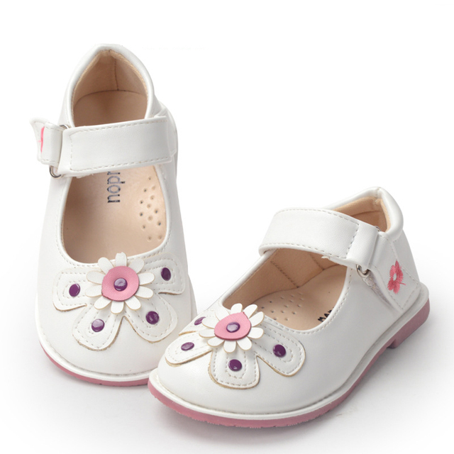 Kids Shoes 2016 Spring Summer Girls PU Leather Shoes Fashion Princess Flat Shoes Flowers Elegant Party Dance Girls Dress Shoes