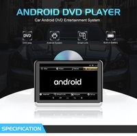 Navirider 10.1 Android 6.0 bluetooth stereo car DVD car accessories headrest monitor portable video player for most vehicles