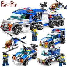 City Police Series Cars Trucks Helicopter Model Building Blocks Set Compatible Legoed City Figures Weapon Toys For Children Boy(China)