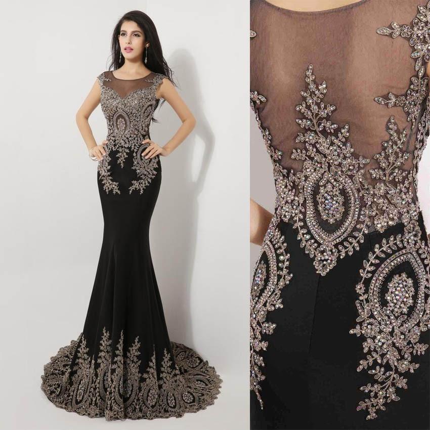 long black lace evening dress | Gommap Blog